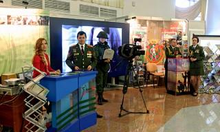Телекомпания «Воен ТВ» представляет экспозицию на выставке «СМI ў Беларусі»