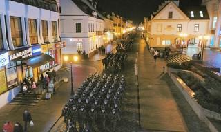 Репетиция военного парада к 100-летию Вооруженных Сил прошла в Гродно