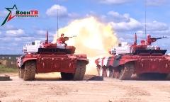 Танковый биатлон. Пристрелка
