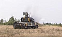 Зенитный пушечный ракетный комплекс «Тунгуска». Колонна машин