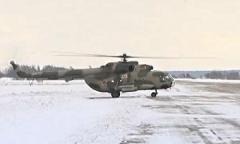 Вертолёт Ми-8. Взлёт