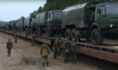 Прибытие белорусских военнослужащих