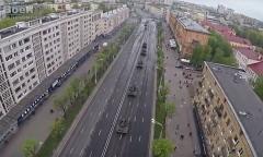 Наземная составляющая парада 9 мая. Квадрокоптер (2015 г.)