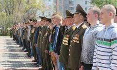Отправка нового пополнения в войска (весна, 2017 г.)