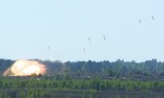 Боевое применение авиации на полигоне Ружаны