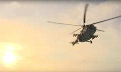 Взлет вертолета Ми-8