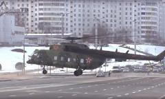 Посадка Ми-8 на проспект Победителей