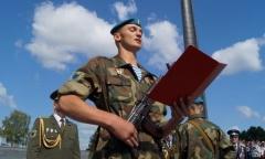Новое пополнение приняло Военную присягу