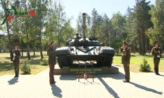 Открытие памятника танку Т-72