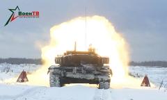 Танки Т-72Б3. Зимний драйв