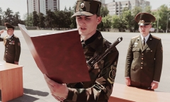 Присяга в Минской военной комендатуре