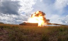 Испытания новой противотанковой ракеты