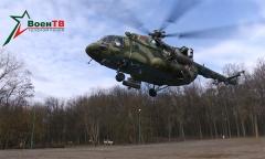В центре Минска приземлился вертолет