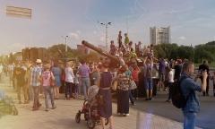 Празднование Дня танкистов в Минске