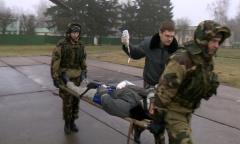 Авиационные спасатели. Тренировка