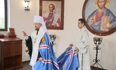 Митрополит освятил часовню на «Линии Сталина»